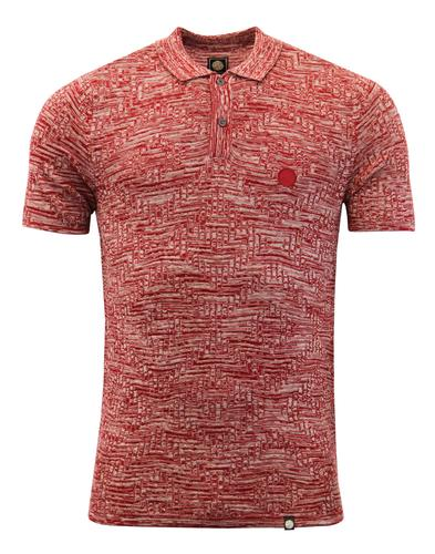 Hesford PRETTY GREEN Space Marl Jacquard Knit Polo