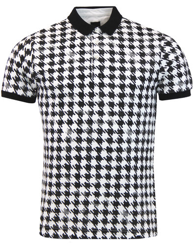 Mallard PRETTY GREEN 60s Mod Painted Dogtooth Polo