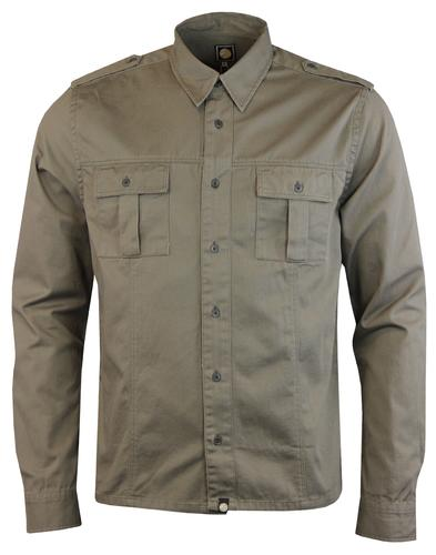 Marlinford PRETTY GREEN 60s Mod Military Overshirt