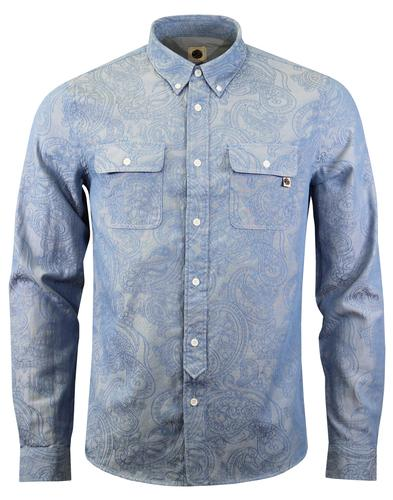 Pirate PRETTY GREEN Retro Paisley Chambray Shirt