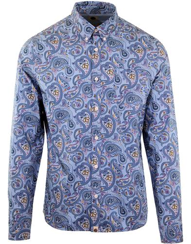 PRETTY GREEN 1960's Mod Signature Paisley Shirt BL