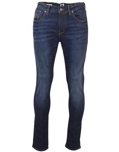 PRETTY GREEN Castlefield Retro 6 Month Wash Indigo Skinny Jeans