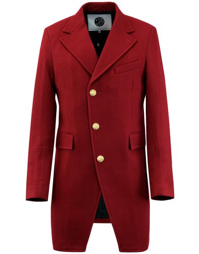PRETTY GREEN x BEATLES Strawberry Fields Coat RED