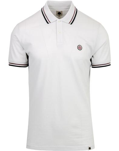 PRETTY GREEN Twin Tipped Pique Polo - Light Grey