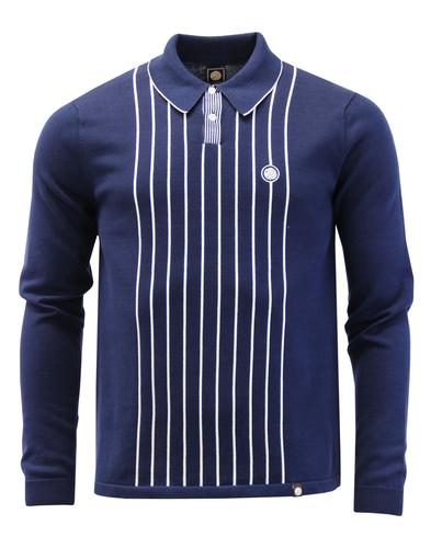 Whittle PRETTY GREEN Mod Stripe Rib Knit Polo Top