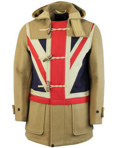 GLOVERALL x PRETTY GREEN Union Jack Duffle Coat C
