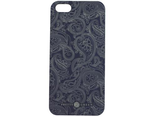 PRETTY GREEN PAISLEY IPHONE CASE NAVY RETRO GIFTS