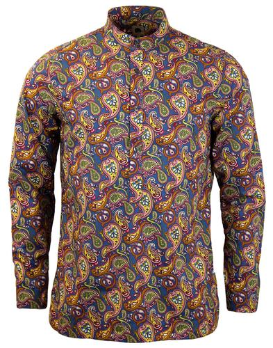 PRETTY GREEN RETRO 60S PAISLEY KAFTAN SHIRT