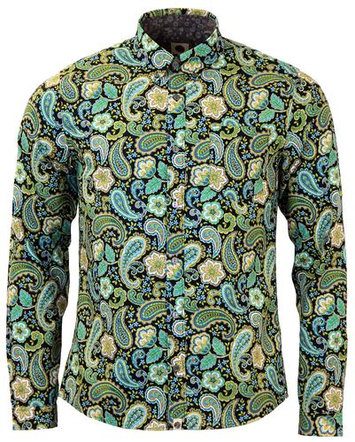 PRETTY GREEN RETRO MOD PAISLEY SHIRT LOUIS