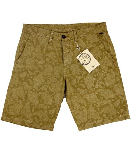 PRETTY GREEN RETRO MOD PAISLEY PRINT SHORTS