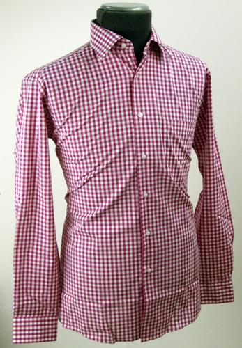 'Delfinne' - Double Two Gingham 60s Mod Shirt (R)