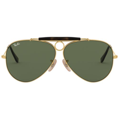 0a670b132cd22 RAY-BAN Shooter Retro 60s Mod Shooter Aviator Sunglasses in Gold