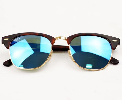 ray ban clubmaster blue mirror 7l15  ray ban clubmaster blue lens