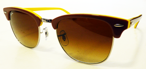 c6a57b9e151b Ray-Ban Clubmaster Sunglasses in Yellow | Retro 50s Sunglasses