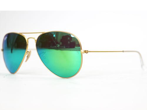 RAY-BAN RETRO MOD FLASH LENS MIRROR AVIATOR GREEN