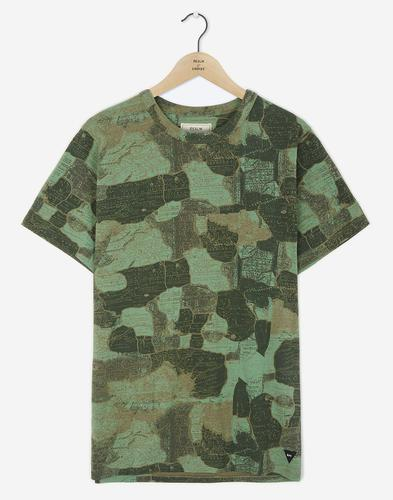 REALM & EMPIRE Retro Mod Map Camo Crew T-Shirt (G)