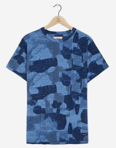 REALM & EMPIRE Retro Mod Map Camo Crew T-Shirt (B)
