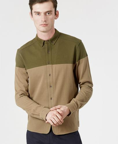 REALM AND EMPIRE RETRO MOD PIQUE SHIRT OLIVE
