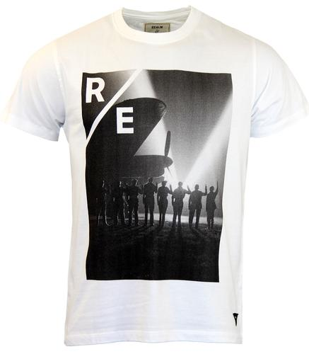 REALM AND EMPIRE VE DAY T-SHIRT WHITE