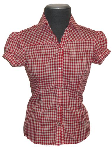 Wonderful Red And White Gingham Blouse Ij94