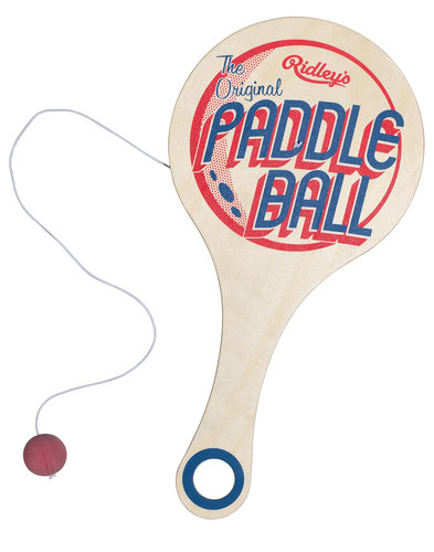Wooden Paddle Ball Game RIDLEY'S Vintage Retro Paddle Ball Game Wooden Indie Toy 8