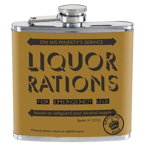 HOME FRONT WW1 LIQUER RATIONS HIP FLASK