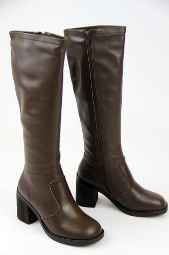 new sixties mod womens knee high boots 60s mod marvelette