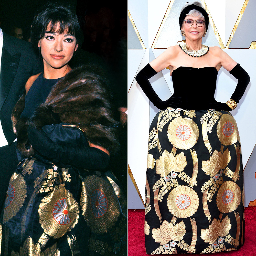 Rita Moreno wears the same Oscar Dress in 1962 and 2018