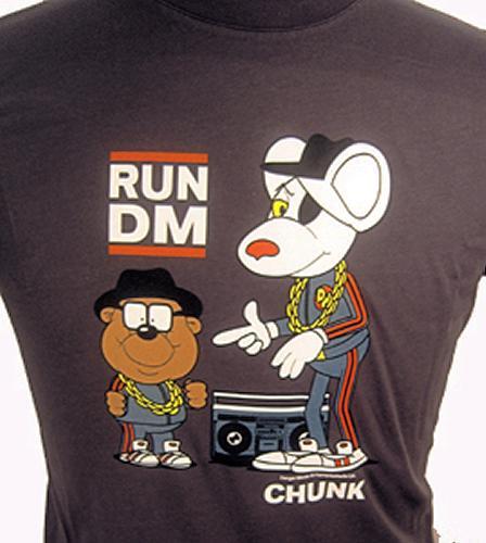 'Run DM' - Retro Indie Mens T-Shirt by CHUNK