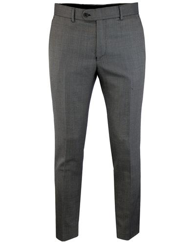Men's Retro 1960s Mod Birdseye Check Suit Trousers