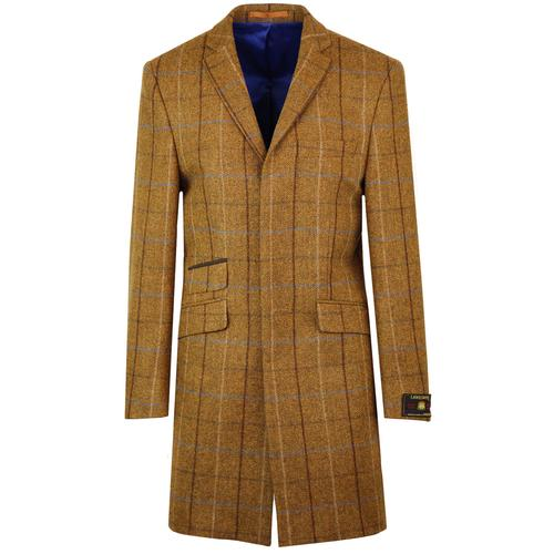 Scottie Mod Four Colour Check Dress Coat (Gold)