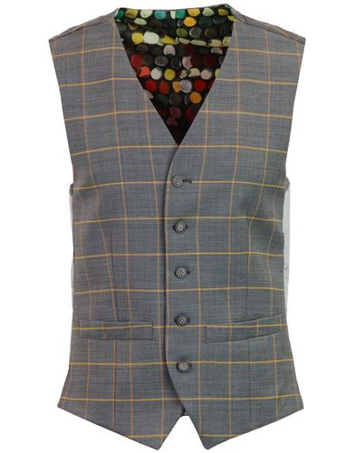 Marriott GIBSON LONDON Windowpane Check Waistcoat