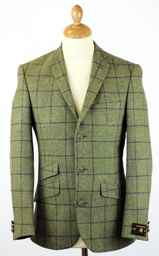 Green Check Blazer Fashion Ql