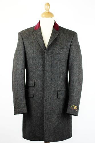 Grey Wool coat with tailored collar