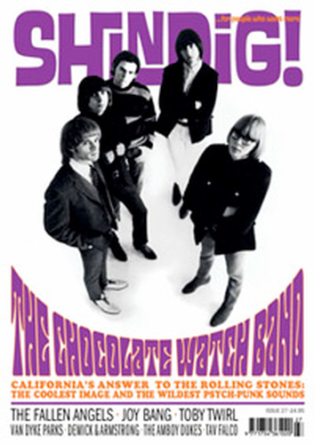 SHINDIG MAGAZINE CHOCOLATE WATCHBAND MOD 60s