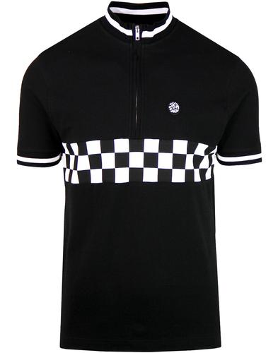 SKA & SOUL Retro Mod Checkerboard Cycling Top