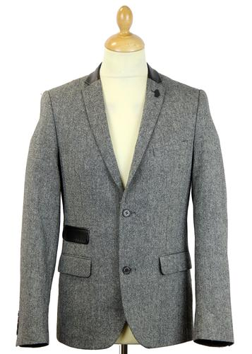 LUKE 1977 SOERON 2 RETRO MOD DONEGAL BLAZER JACKET