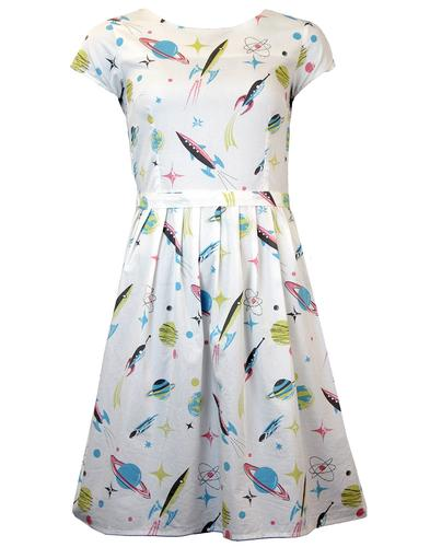MADCAP ENGLAND SATURN 5 RETRO 1950s TEA DRESS
