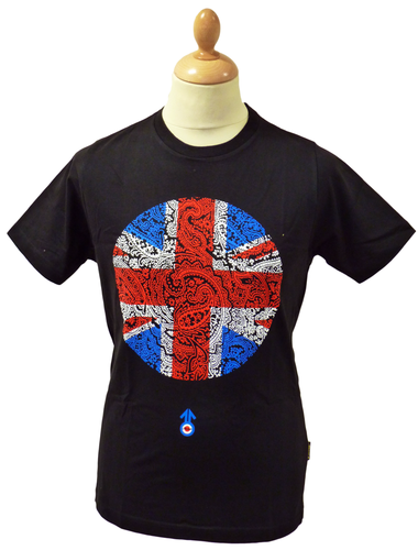 Paisley Union Jack STOMP Retro Indie Mod T-Shirt