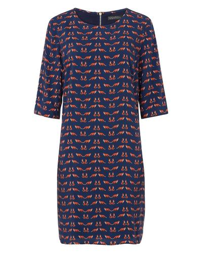 Alysia SUGARHILL BOUTIQUE Retro Foxes Print Dress