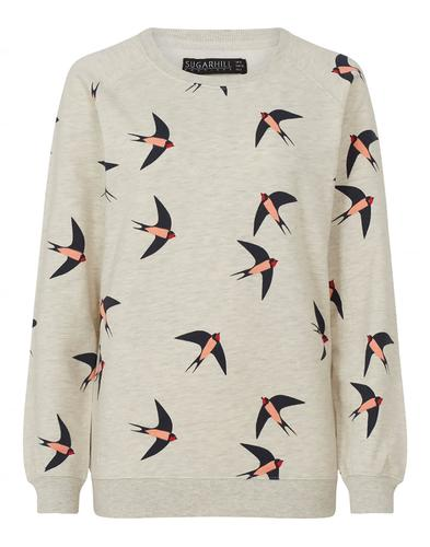 Laurie SUGARHILL BOUTIQUE Swallows Print Jumper