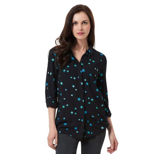 Joy Star SUGARHILL BOUTIQUE Batik Shirt Black