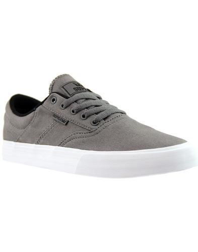 Cobalt SUPRA Retro 90s Low Top Board Trainers GREY