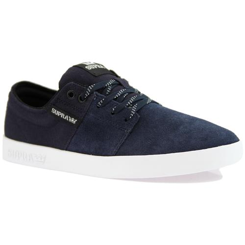 Stacks II SUPRA Low Top Skate Trainers Navy/White