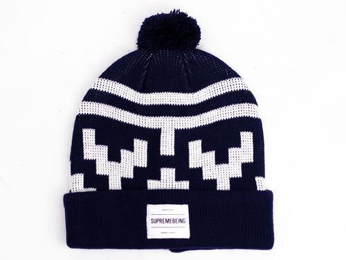 SUPREMEBEING RETRO MOD 70S HOLLIS BOBBLE HAT