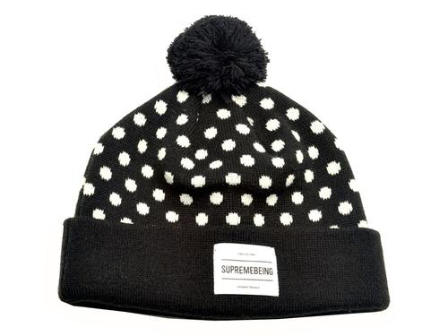 SUPREMEBEING RETRO MOD 70S POLKA DOT BOBBLE HAT