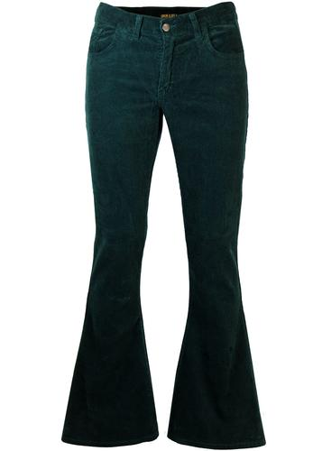 Unreal Teal Retro 70s Corduroy Bellbottom Flares