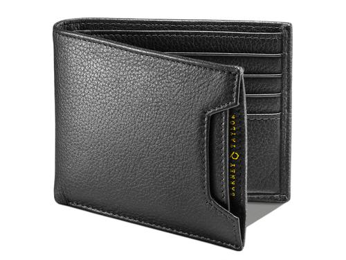 BARNEY AND TAYLOR LEATHER WALLETS TARLTON BLACK
