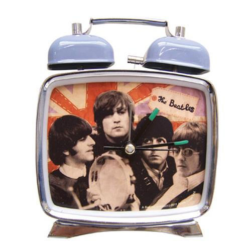 BEATLES Union Jack Alarm Clock - Retro 60s Clocks