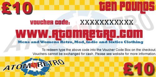 £10.00 Atom Retro Gift Voucher